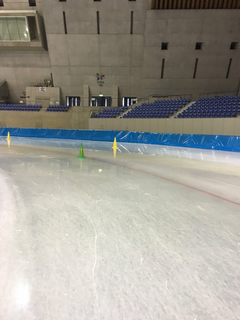 The 400-meter skating track