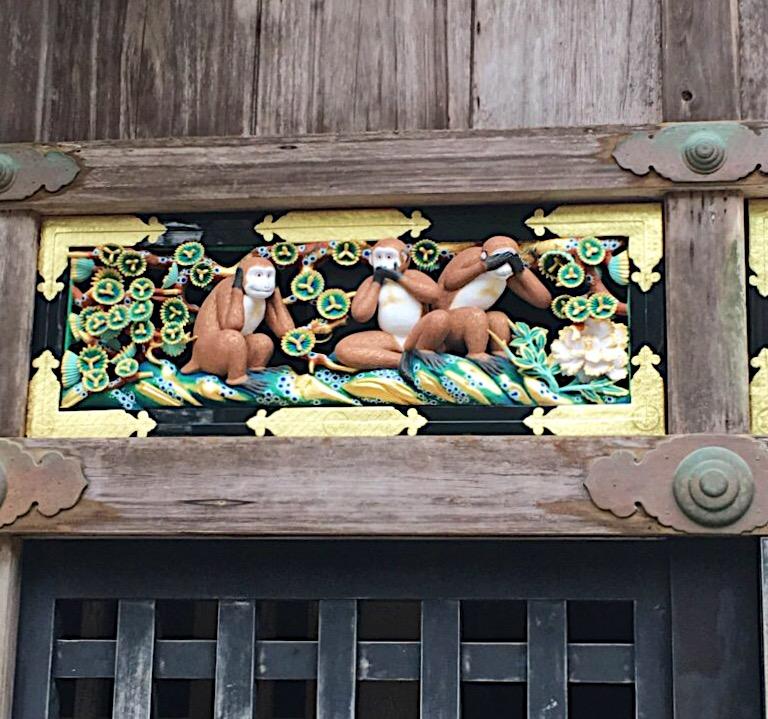 Toshogu's three monkeys