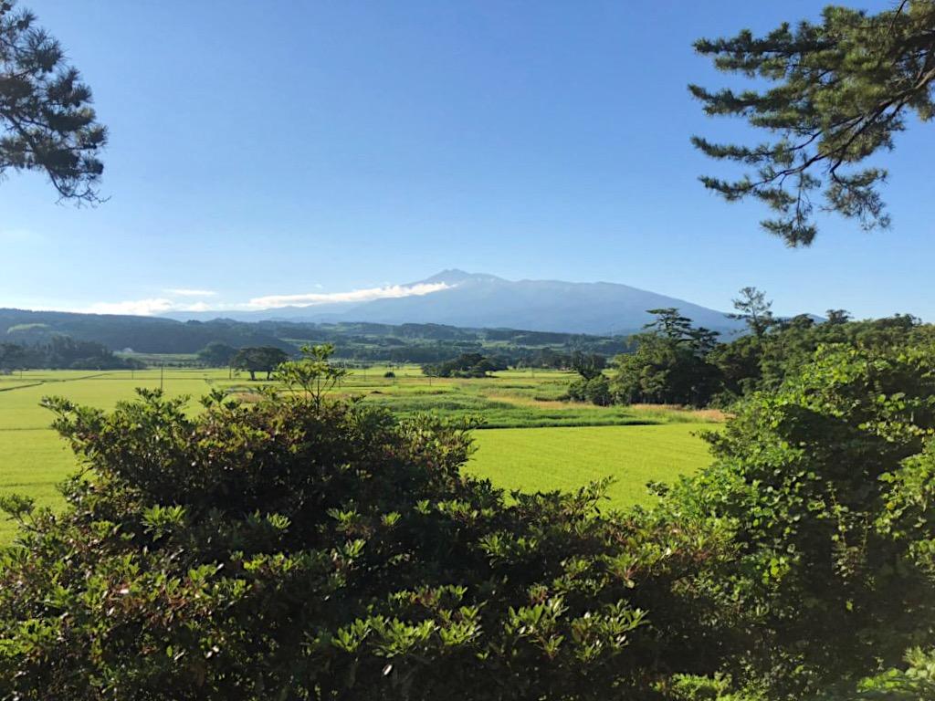 View of Mt. Chokai from Komadome-jima Island