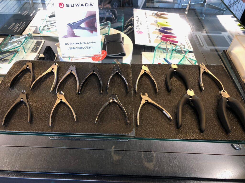 Try out the nipper-type nail clippers